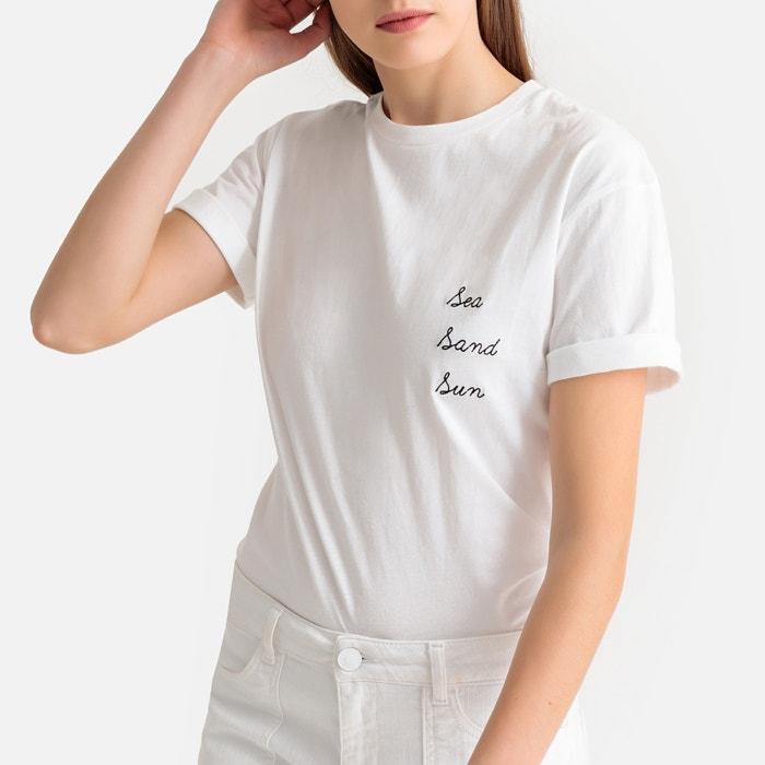 77b1ff62b50 Sea sand sun slogan cotton t-shirt off-white Suncoo | La Redoute