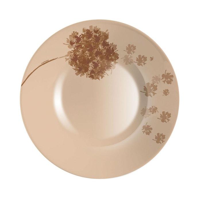 assiette creuse 21 5 cm stella chocolat marron luminarc la redoute. Black Bedroom Furniture Sets. Home Design Ideas