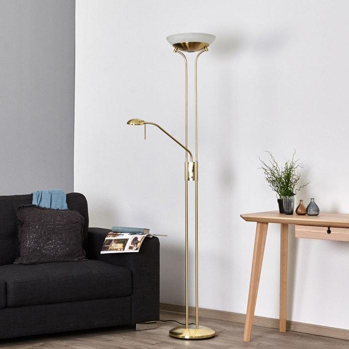 lampadaire clairage indirect denise satin laiton mat. Black Bedroom Furniture Sets. Home Design Ideas