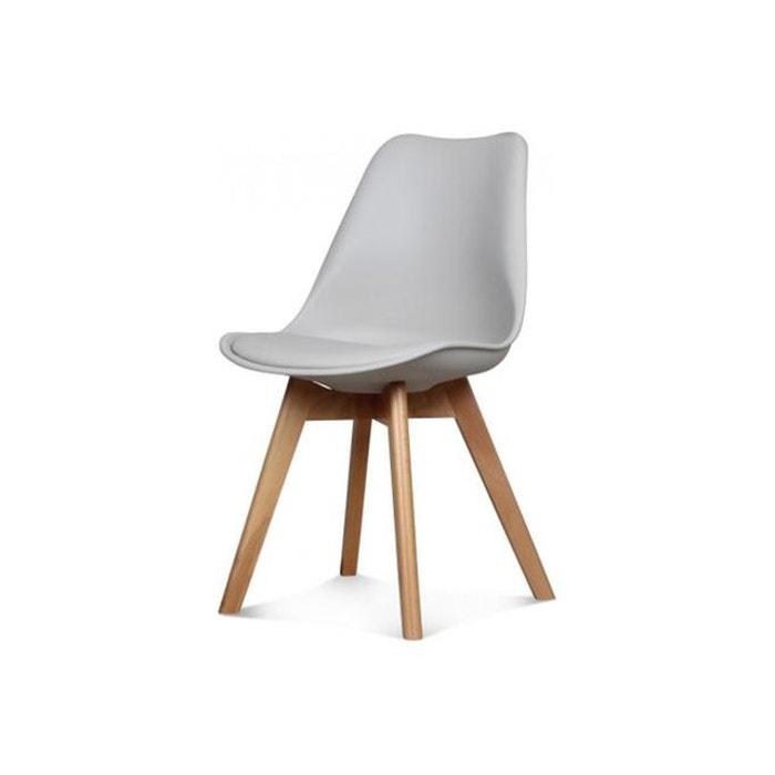 chaise design style scandinave taupe esben gris declikdeco la redoute. Black Bedroom Furniture Sets. Home Design Ideas
