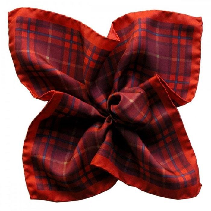 Pochette soie, segni et disegni, tartan rouge rouge Segni Et Disegni | La Redoute