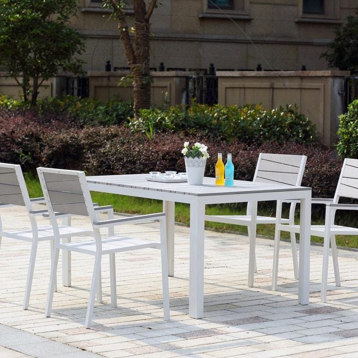 Salon de jardin en alu et polywood, siderno blanc Concept Usine   La ...