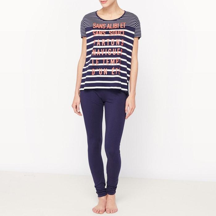 afbeelding Pyjama in katoen met korte mouwen La Redoute Collections