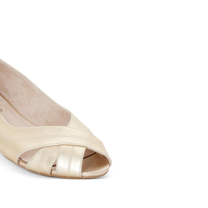 cheap discount MADEMOISELLE R Cross-Front Leather Ballet Pumps buy cheap hot sale fm6IP