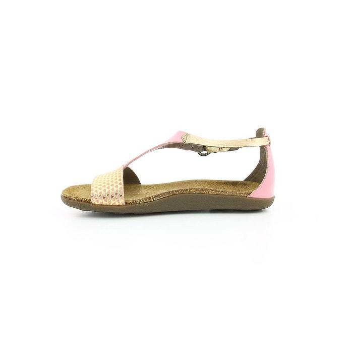 Sandales cuir femme amistad rose Kickers