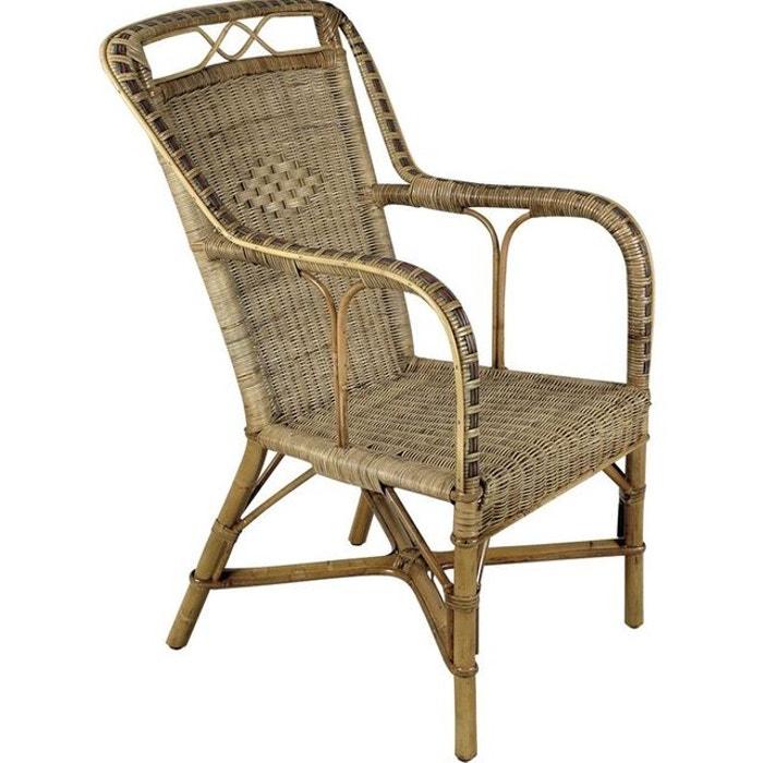 Fauteuil haut en manau et rotin naturel aubry gaspard la redoute - La redoute fauteuil rotin ...