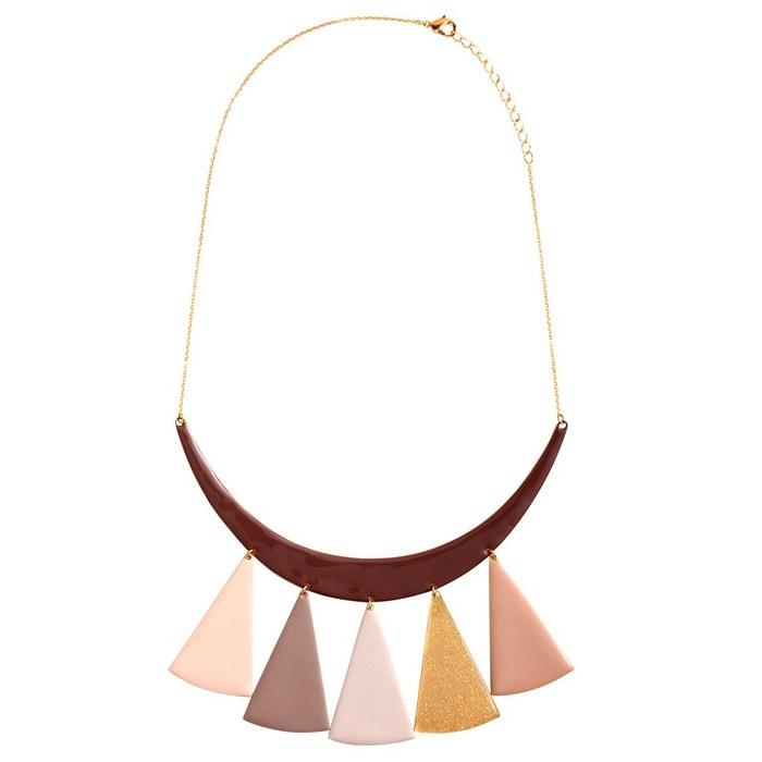Collier ras du cou 5 triangles marron clair Little Woman Paris | La Redoute Manchester Grande Vente Pas Cher En Ligne 5DFNuT