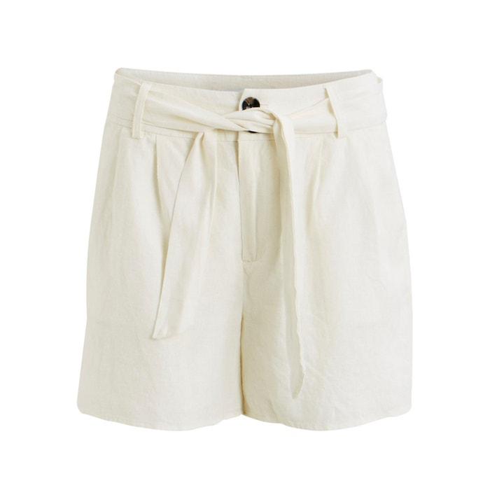 Short, gemengd linnen, te strikken aan de taille, Visemah  VILA image 0