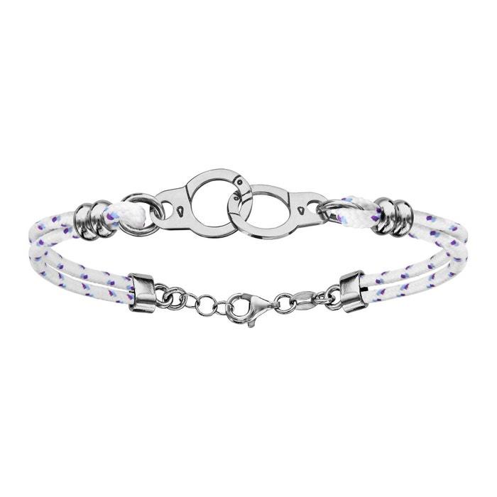 Bracelet longueur réglable: 16 à 20 cm menotte double rangs corde blanche argent 925 couleur unique So Chic Bijoux | La Redoute Jeu Fiable Jeu Confortable fL0jWWX1