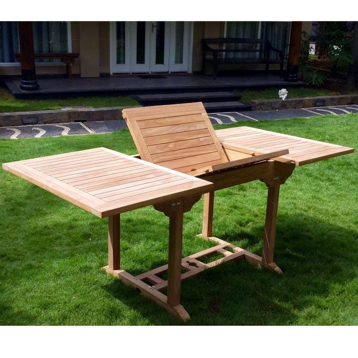 Table de jardin en teck pour 8 personnes Wood En Stock   La Redoute
