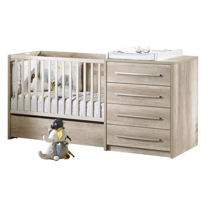 lit combin evolutif 120x60 emmy sauthon marron sauthon. Black Bedroom Furniture Sets. Home Design Ideas