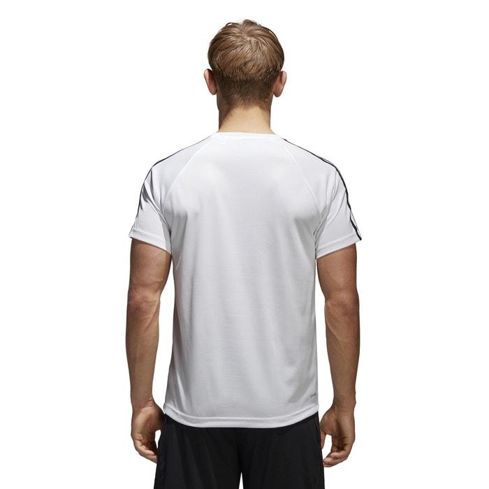 corta estampado manga y con redondo PERFORMANCE cuello Camiseta de delante ADIDAS WSBpTUq