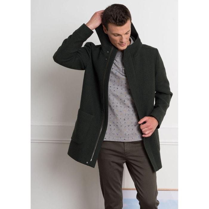 Manteau homme laine avec capuche