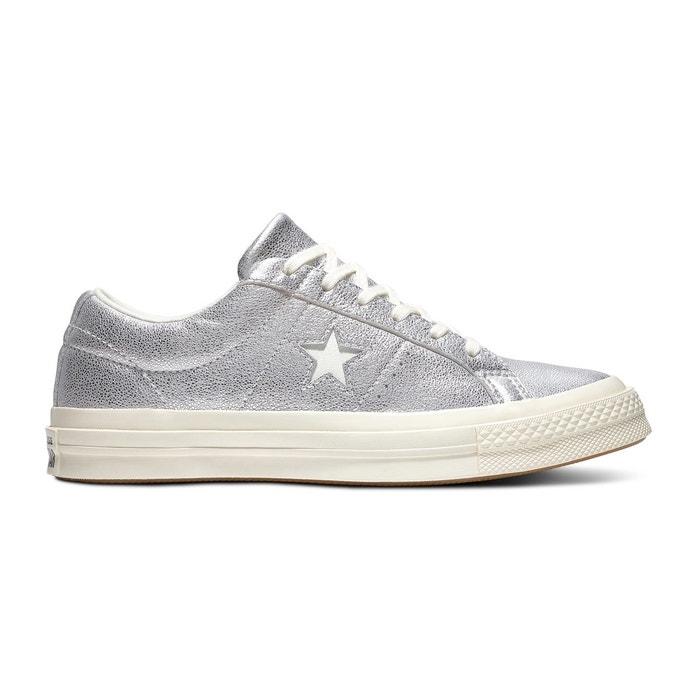 113492905d1 Baskets basses en cuir one star argent Converse