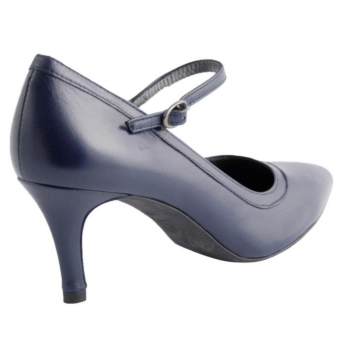 Chaussures à talons novia bleu marine Exclusif Paris