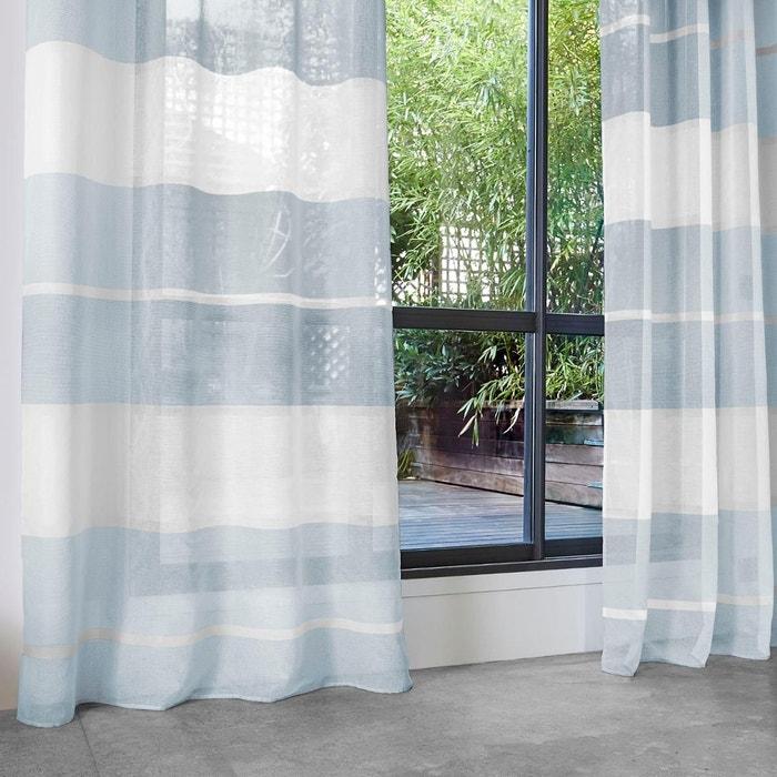 voilage avec larges rayures horizontales home maison la redoute. Black Bedroom Furniture Sets. Home Design Ideas
