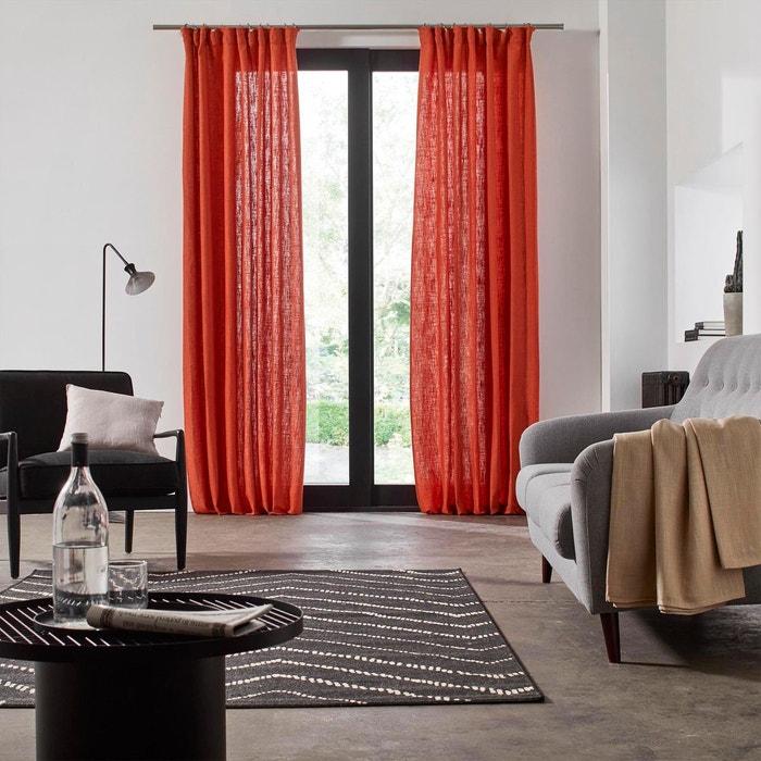 rideau ruban fronceur polyester bellevue marron madura la redoute. Black Bedroom Furniture Sets. Home Design Ideas