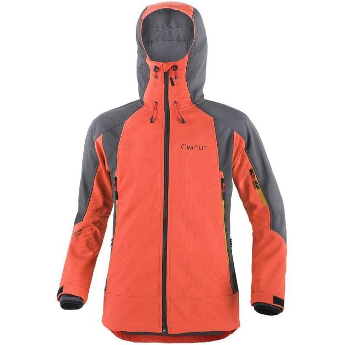 Orange Veste Softshell Couches Superstrong D'alpinisme La 3 Cimalp S66TAZv