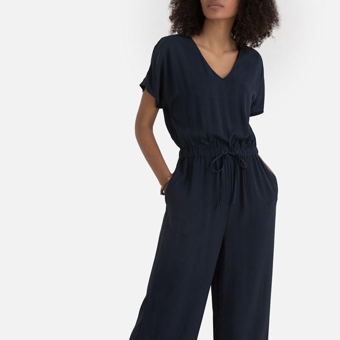 dbd1331e967 Комбинезон с брюками с короткими рукавами темно-синий La Redoute Collections