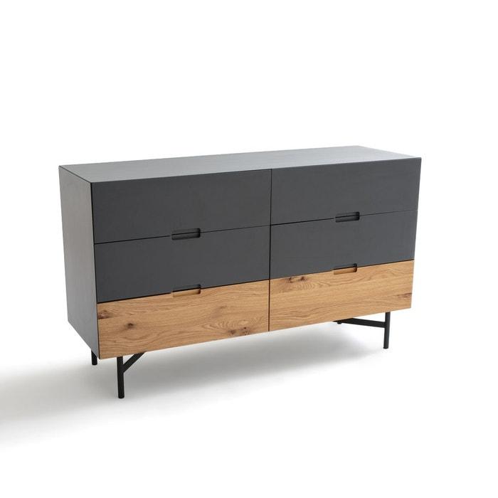 commode 6 tiroirs lora gris anthracite la redoute interieurs la redoute. Black Bedroom Furniture Sets. Home Design Ideas