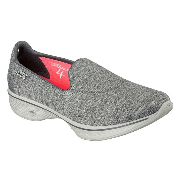 online store 9132a c2774 Chaussures de sport à enfiler gris heather Skechers   La Redoute