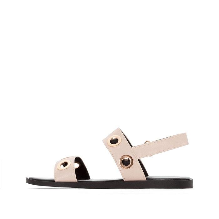 ... Sandales plates détail œillets nude La Redoute Collections ...
