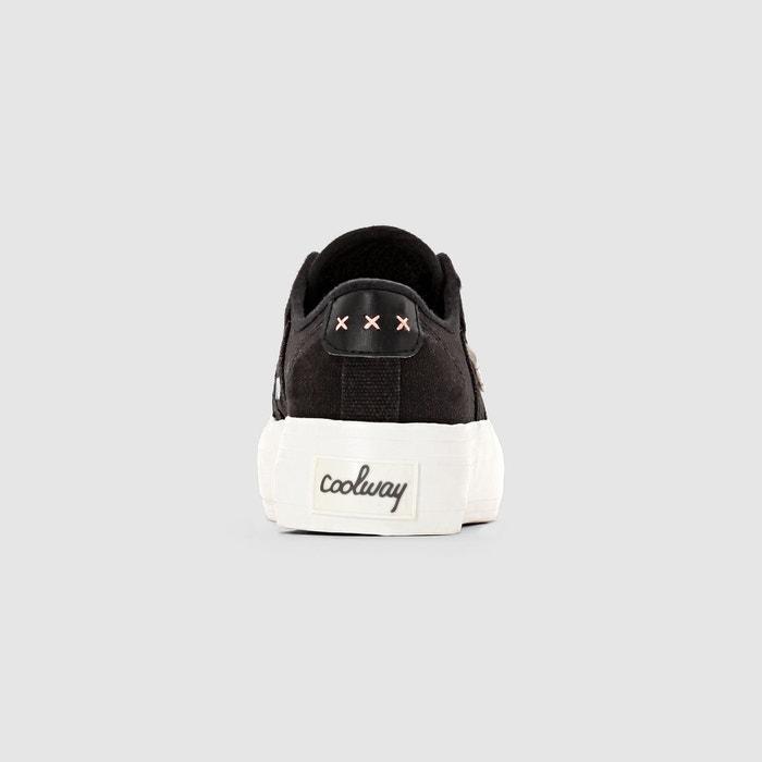 Baskets basses, semelle épaisse, à lacets, daniela noir Coolway
