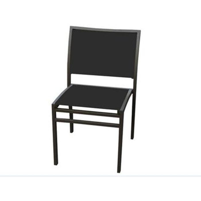 4 chaises de jardin coloris noir couleur unique lekingstore la redoute - La redoute chaise de jardin ...