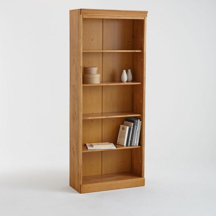 Bibliothèque basse, pin massif, authentic style pin ciré La