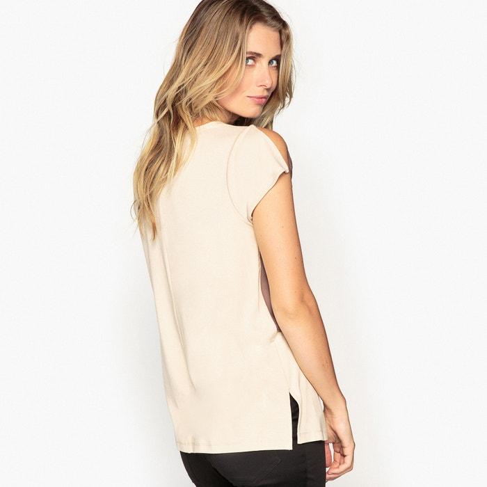 Dual Fabric T-Shirt  ANNE WEYBURN image 0