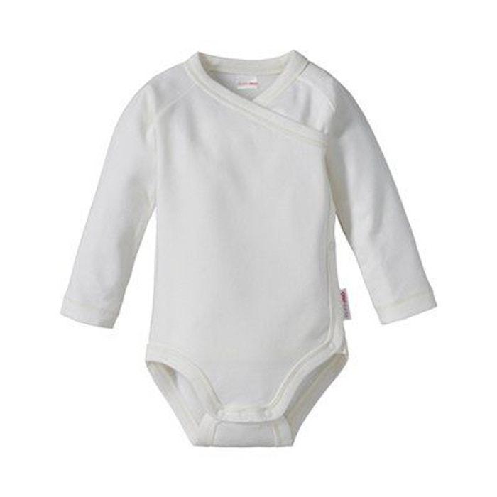 Bornino le body portefeuille à manches longues bébé blanc Bornino ... 78f9e55e1ce