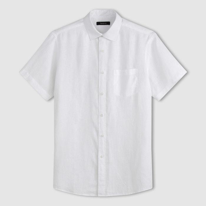 Image Short-Sleeved Linen Shirt CASTALUNA FOR MEN