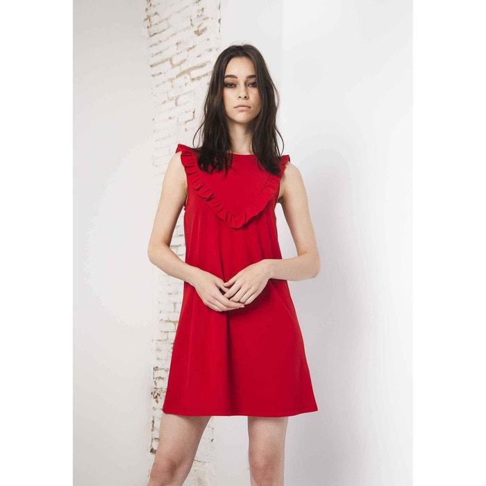 robe droite uni courte sans manches rouge compania fantastica la redoute. Black Bedroom Furniture Sets. Home Design Ideas