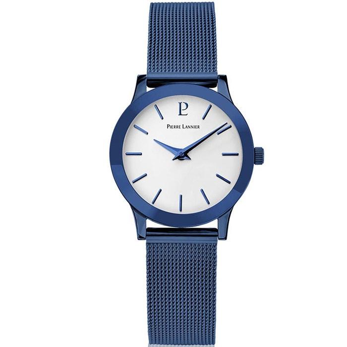 Montre en acier bleu bleu Pierre Lannier | La Redoute Nouveau Style De La Mode jielTbZZwQ