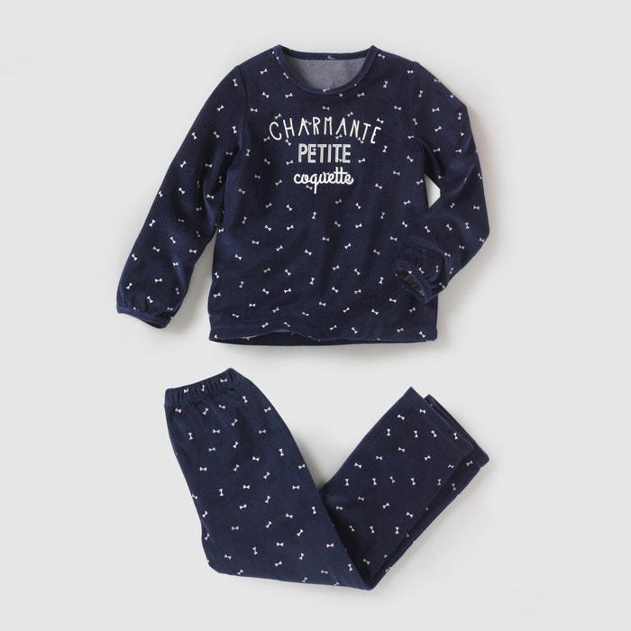 Imagen de Pijama de terciopelo estampado 2-12 años R essentiel