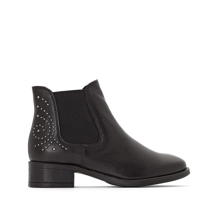 boots cuir sasha noir tamaris la redoute. Black Bedroom Furniture Sets. Home Design Ideas