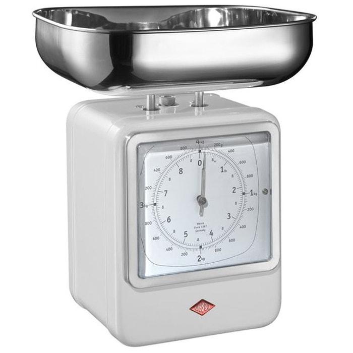 Wesco Balance De Cuisine Avec Horloge Blanc Blanc Wesco La Redoute
