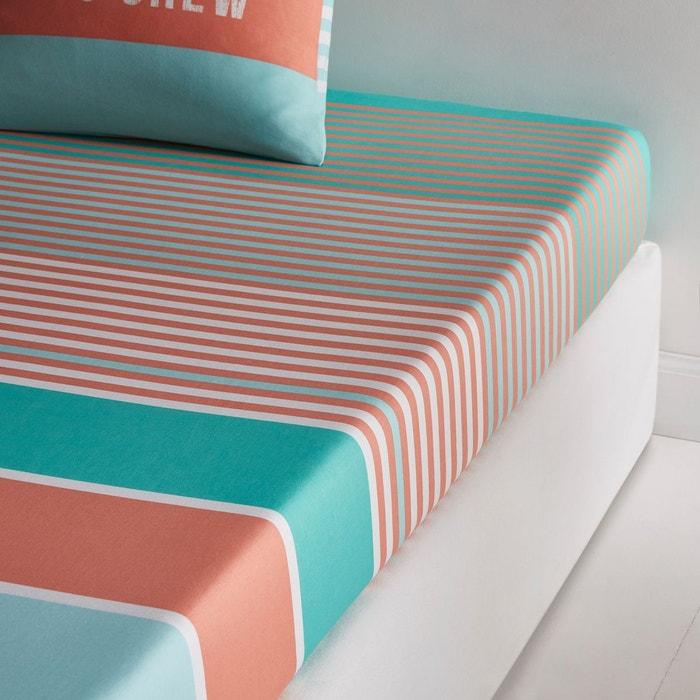 drap housse imprim west coast la redoute interieurs la. Black Bedroom Furniture Sets. Home Design Ideas