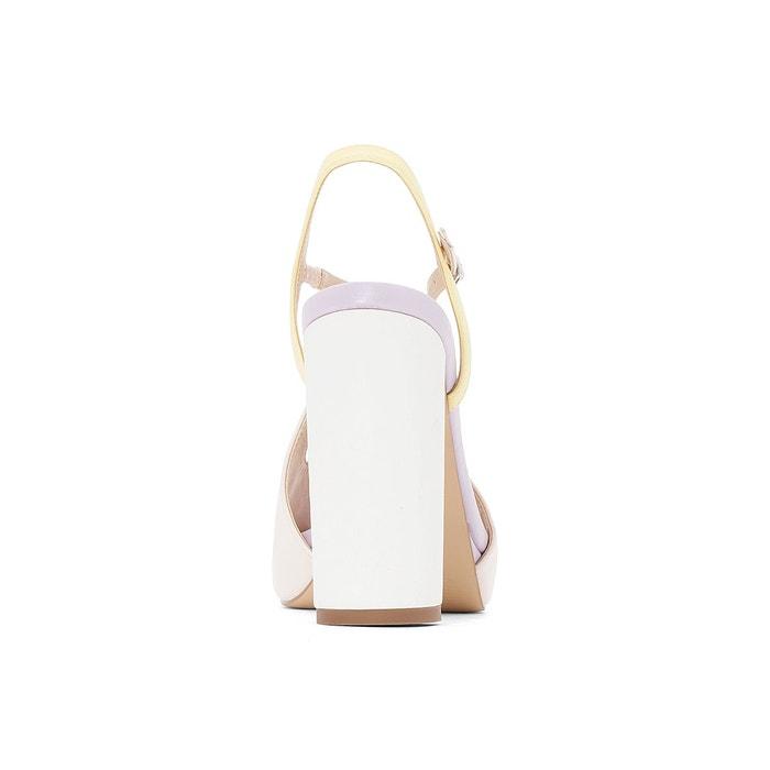 Sandales rétro nude Mademoiselle R