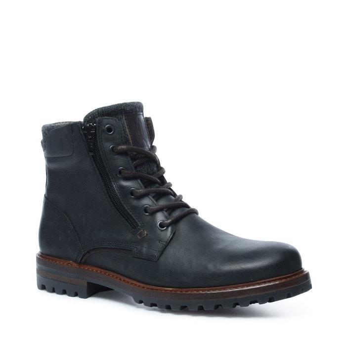 4d06b260d22 Boots à lacets noir Sacha La Redoute GH8HUA1Z - destrainspourtous.fr