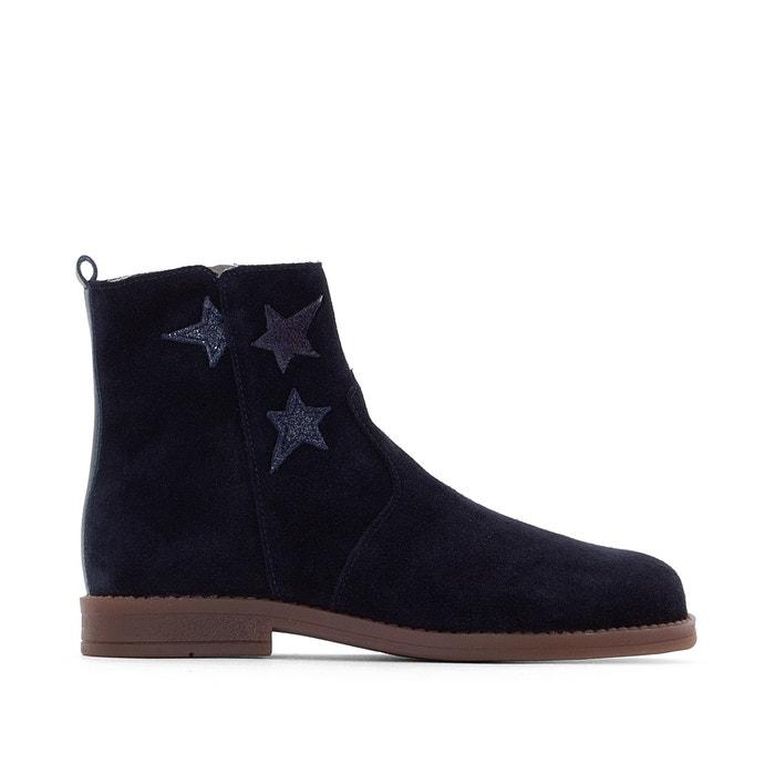 super service huge sale modern design Leather Ankle Boots with Star Design