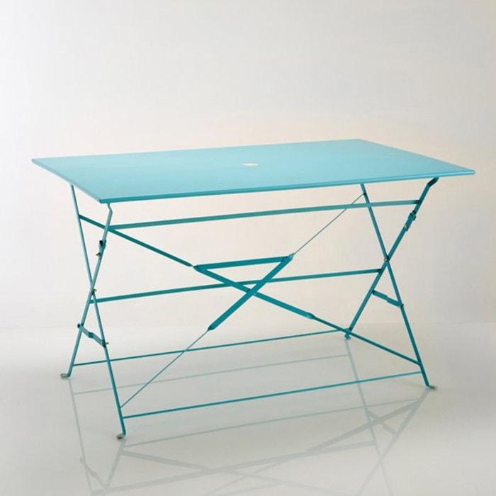 Table pliante rectangulaire, métal