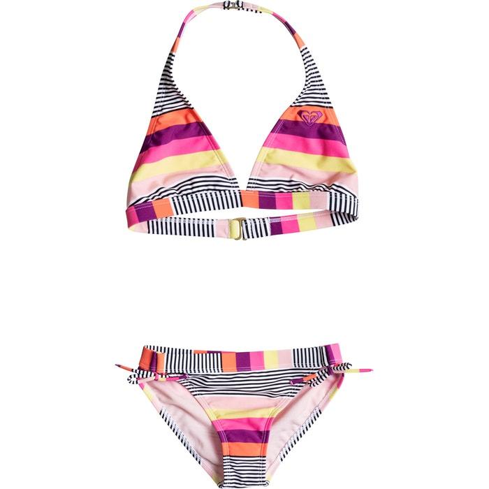 Striped Triangle Bikini, 8-16 Years.