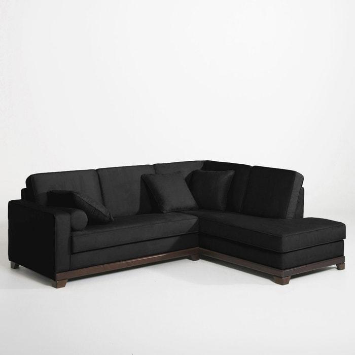 afbeelding Hoekcanapé, vast model, uitstekend comfort, half gevlochten katoen, Edwin La Redoute Interieurs