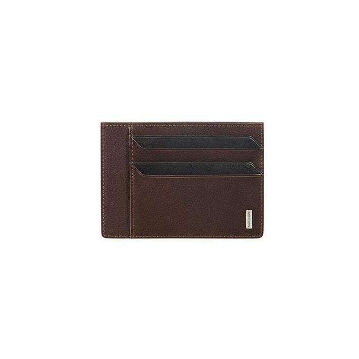 Nyx 3 slg portefeuille cuir marron fonce Samsonite | La Redoute Grand Escompte Dernière Vente En Ligne 7eloCtNDuj