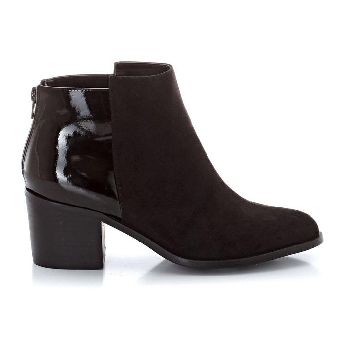 Boots bi-matière noir La Redoute Collections