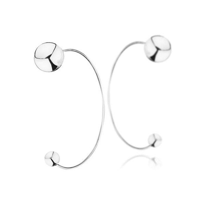 Boucles d'oreilles percées en argent 925 passivé, 5g, ø6 et 12mm argent Canyon | La Redoute