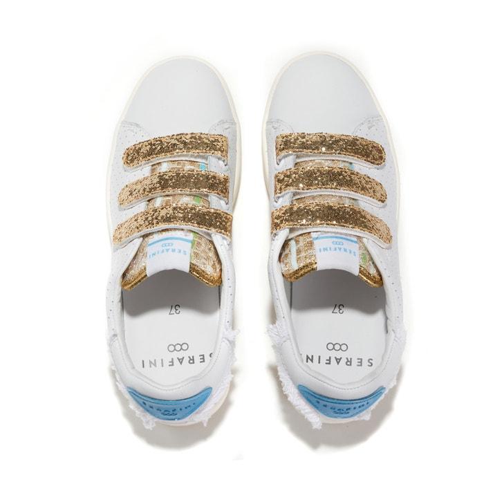732b4d7cca2 Sneakers in geperforeerd leer en glitter jimmy connors wit Serafini ...