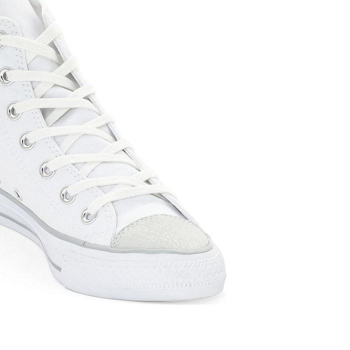 Baskets montantes ctas hi metallic toecap canvas blanc Converse