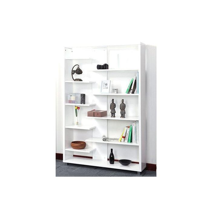 biblioth que design laqu e blanche vixy blanc miliboo la redoute. Black Bedroom Furniture Sets. Home Design Ideas